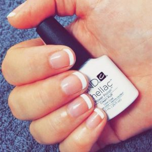 french nails shellac